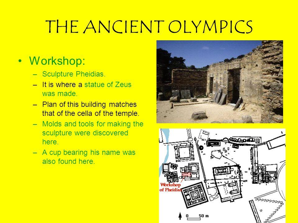 THE ANCIENT OLYMPICS Workshop: Sculpture Pheidias.