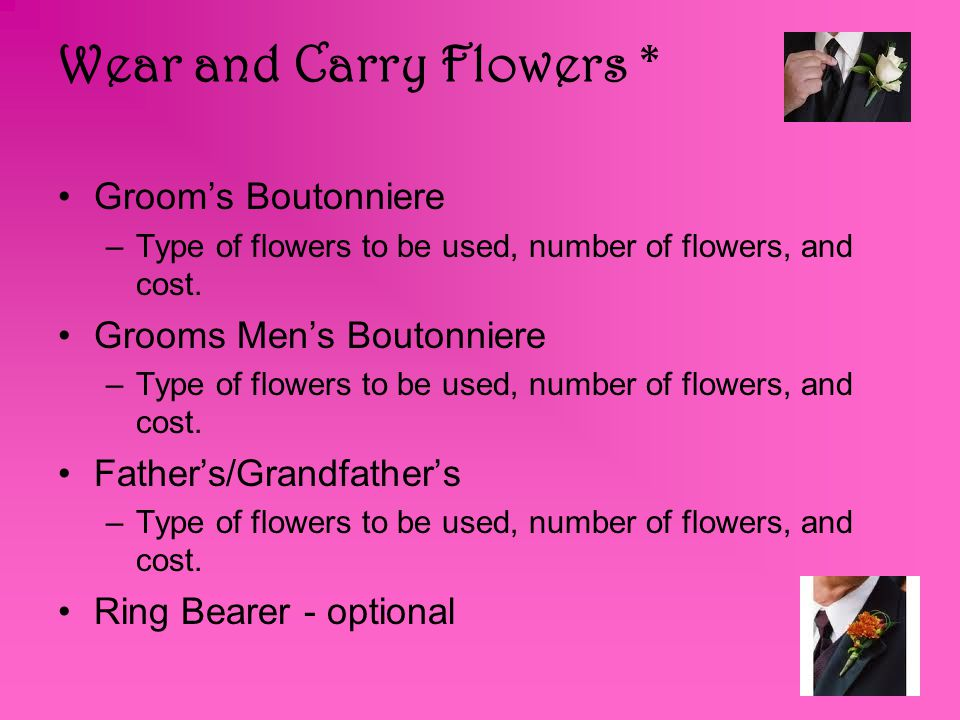 Wear and Carry Flowers *