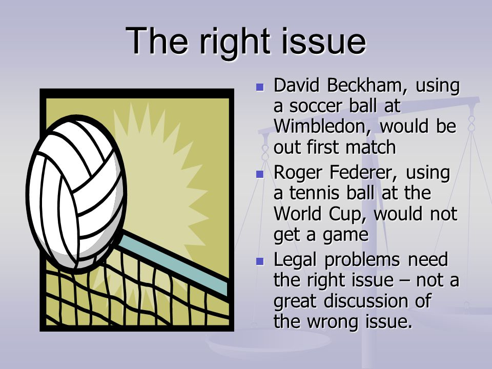 The right issue David Beckham, using a soccer ball at Wimbledon, would be out first match.