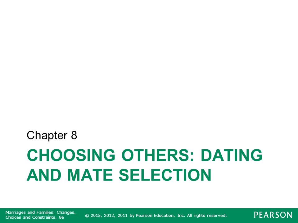 Dating coupling and mate selection