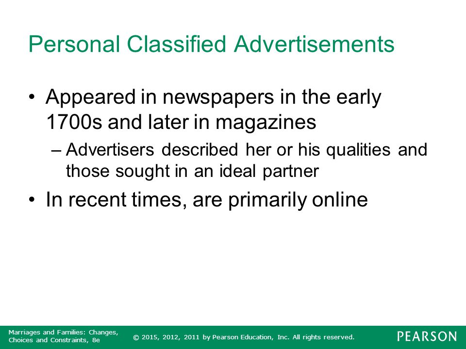 Personal Classified Advertisements