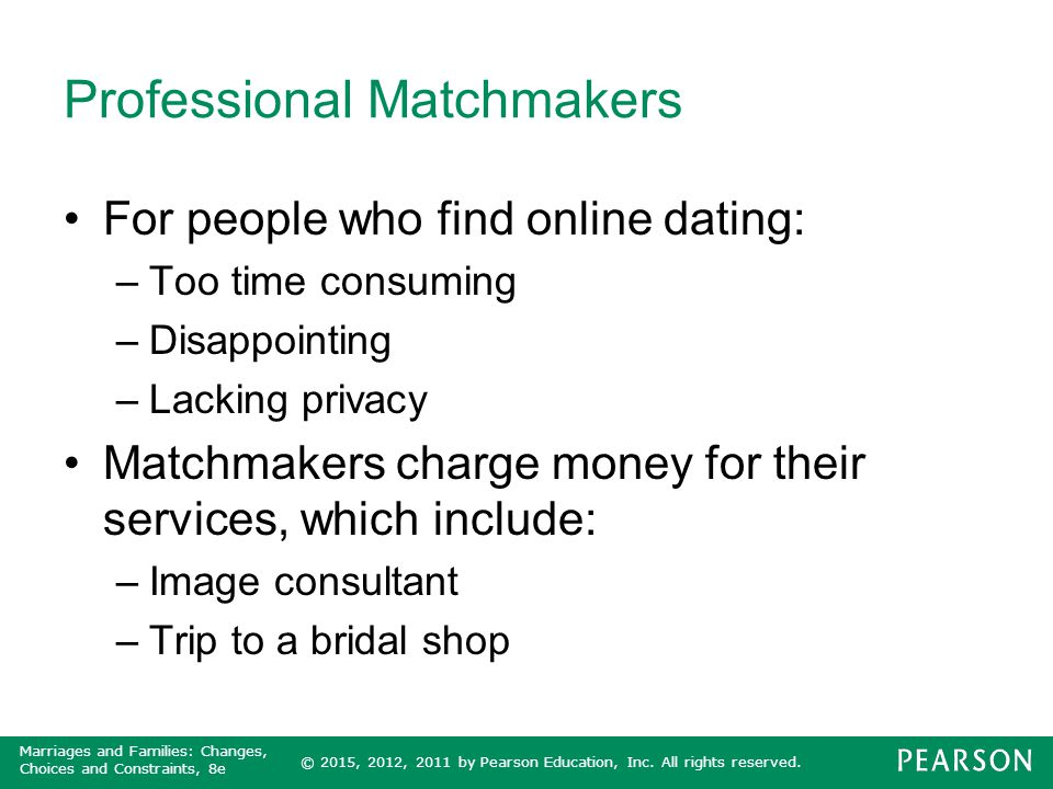 Professional Matchmakers