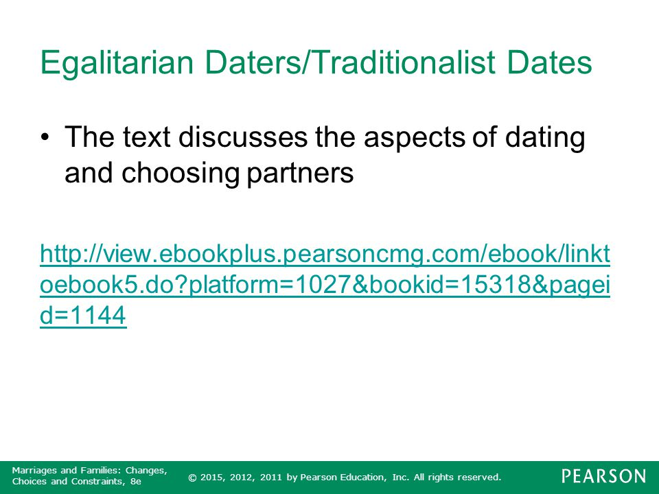 Egalitarian Daters/Traditionalist Dates
