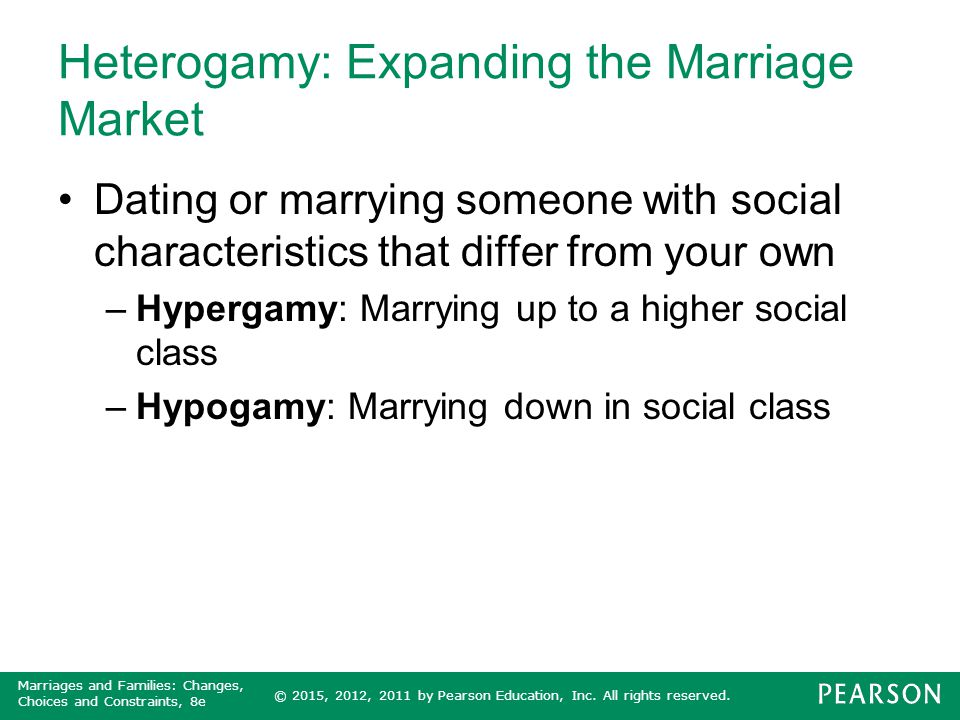 Heterogamy: Expanding the Marriage Market