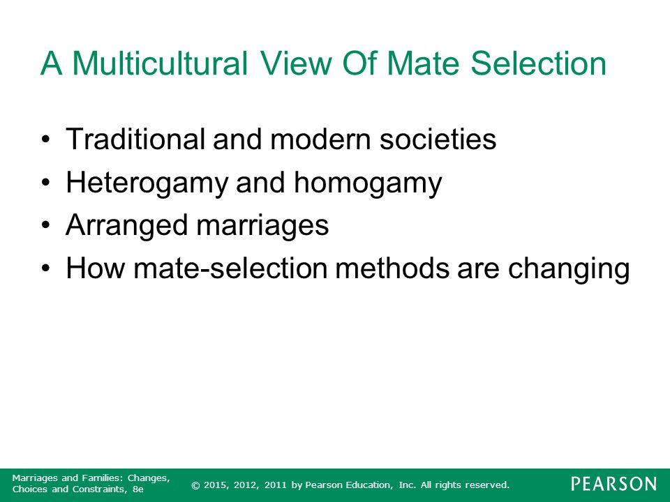 A Multicultural View Of Mate Selection