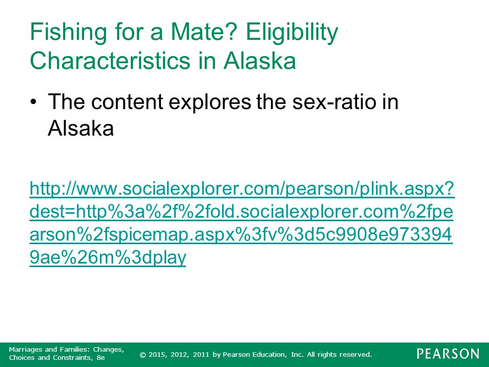 Fishing for a Mate Eligibility Characteristics in Alaska