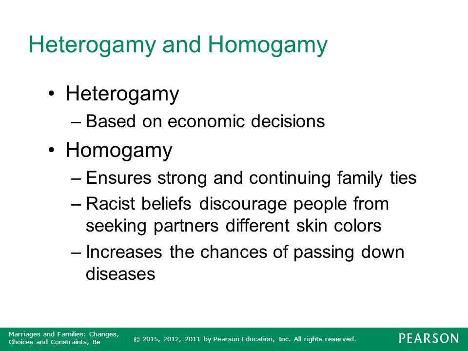 Heterogamy and Homogamy