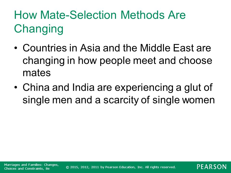 How Mate-Selection Methods Are Changing