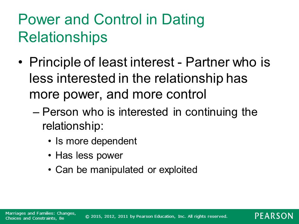 Power and Control in Dating Relationships