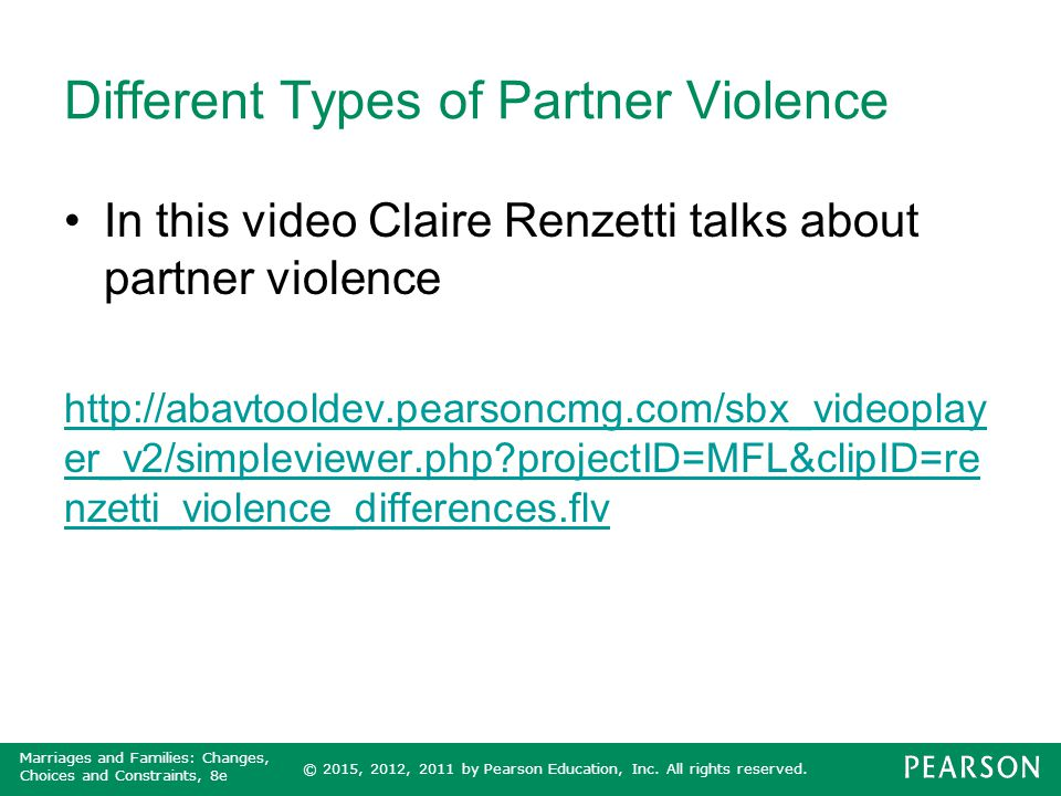 Different Types of Partner Violence