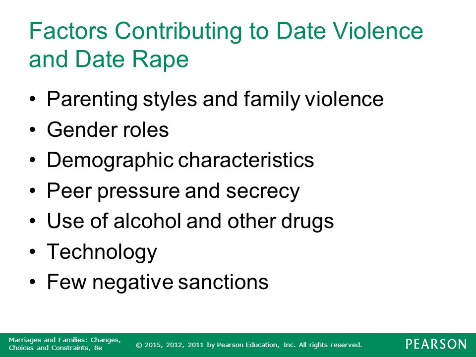 Factors Contributing to Date Violence and Date Rape