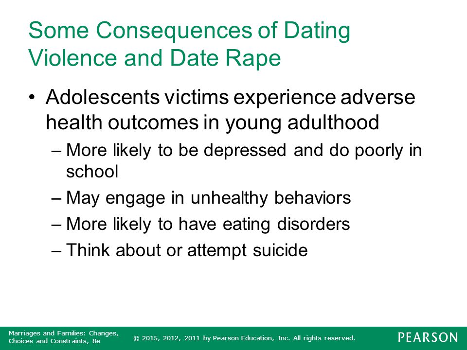 Some Consequences of Dating Violence and Date Rape