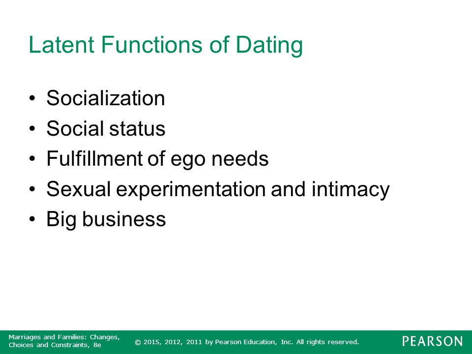 Latent Functions of Dating