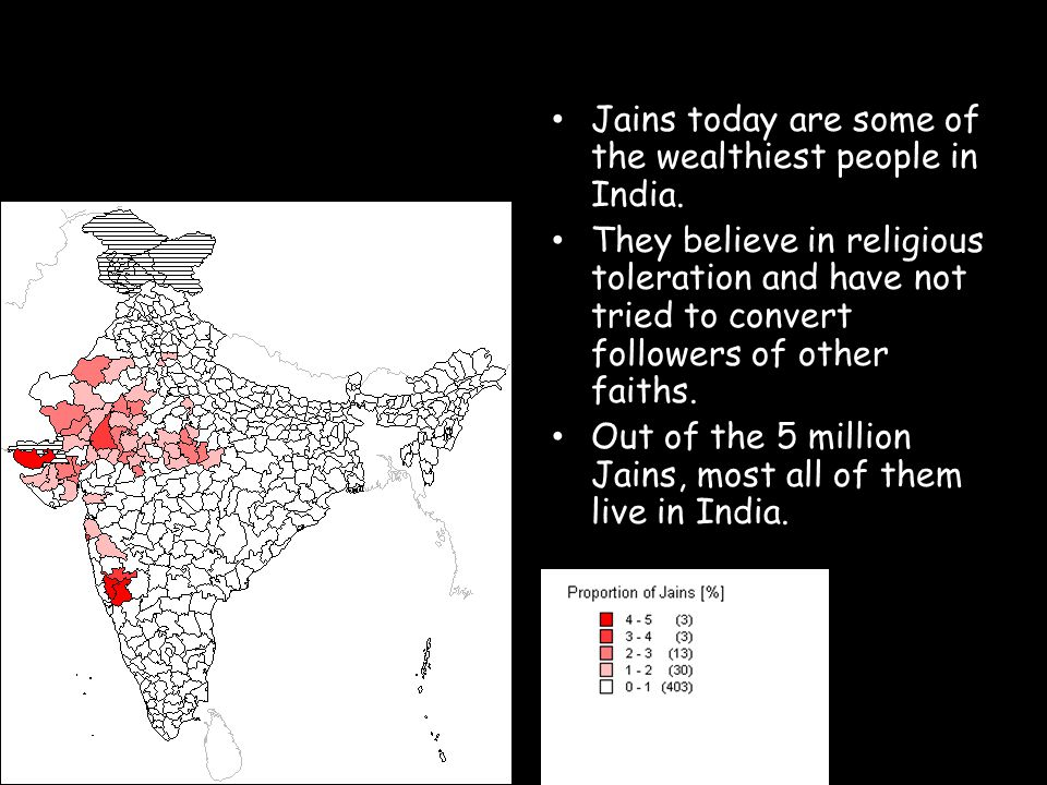 Jains today are some of the wealthiest people in India.