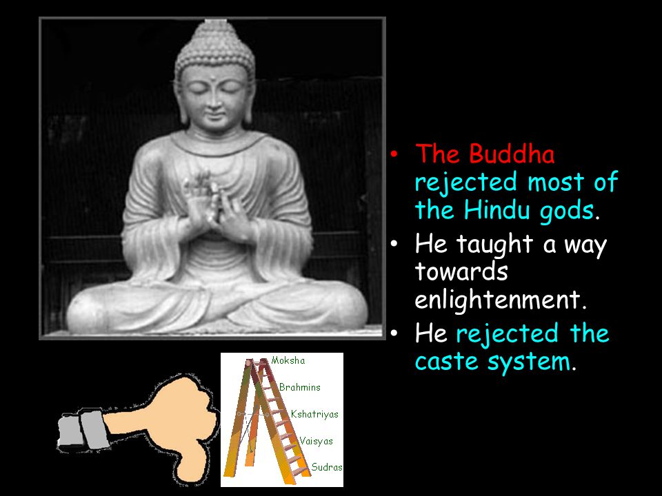 The Buddha rejected most of the Hindu gods.