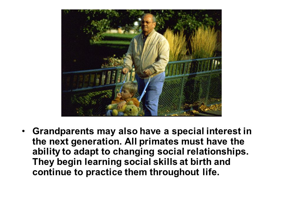 Grandparents may also have a special interest in the next generation