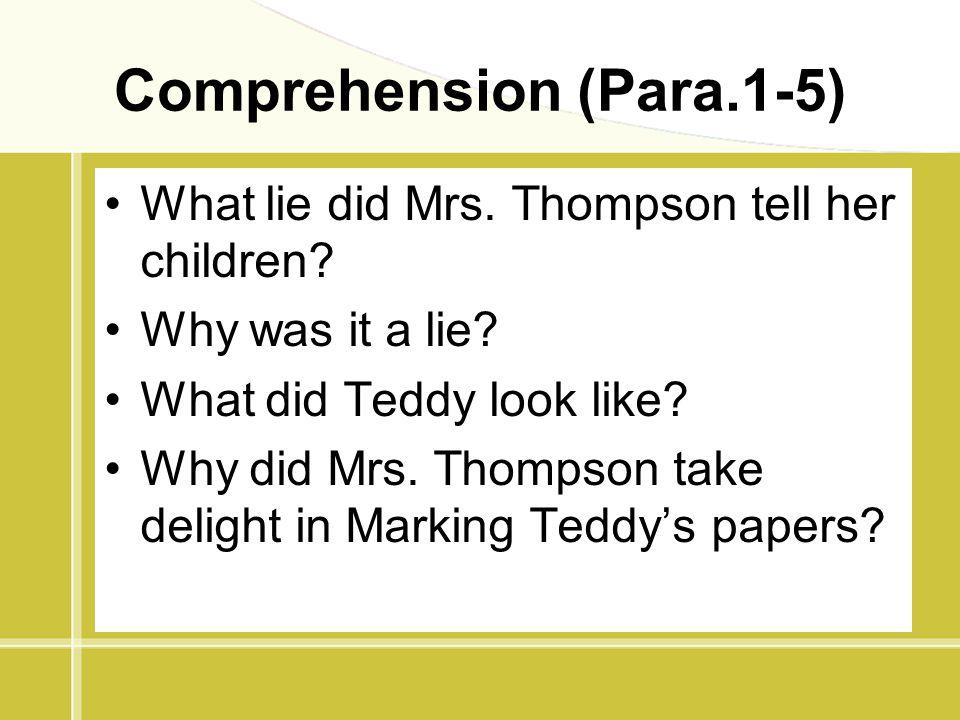 Comprehension (Para.1-5)