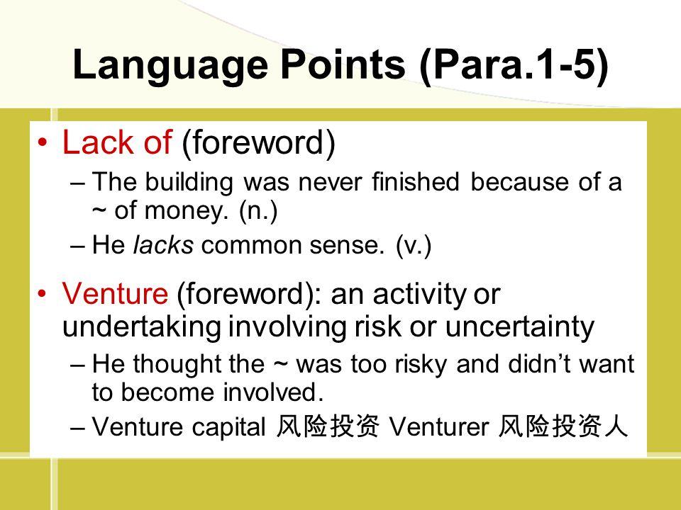 Language Points (Para.1-5)