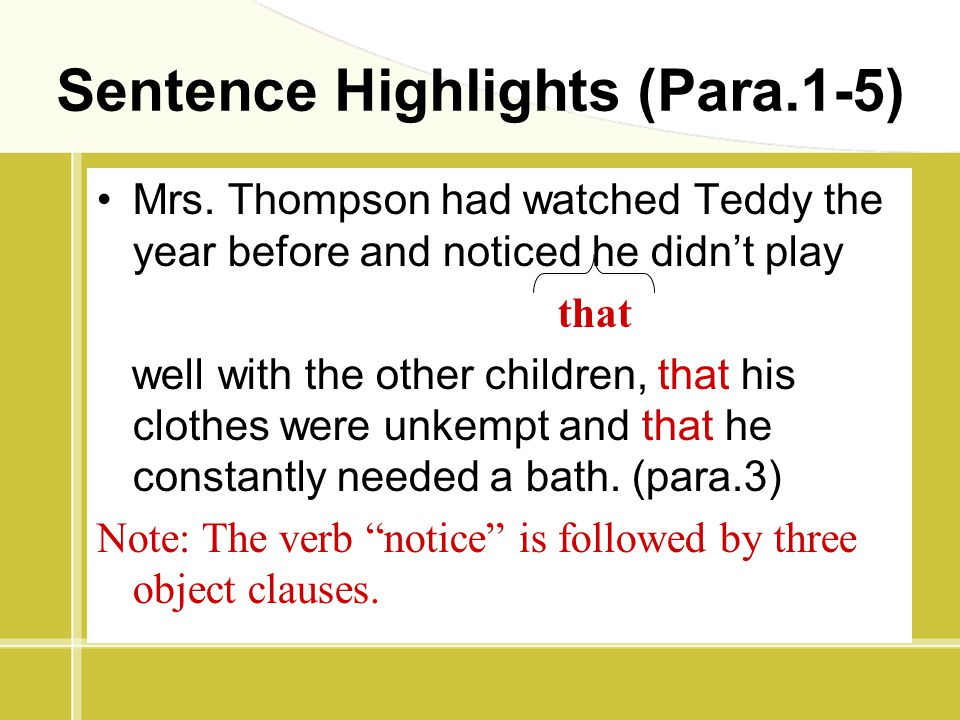 Sentence Highlights (Para.1-5)