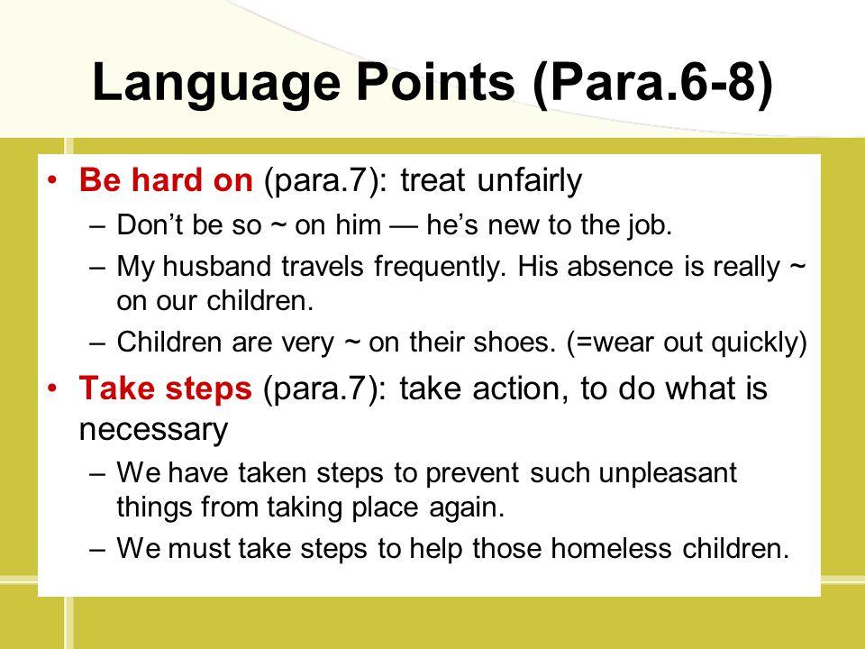 Language Points (Para.6-8)