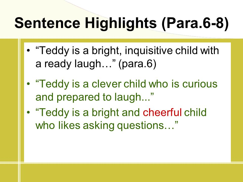 Sentence Highlights (Para.6-8)