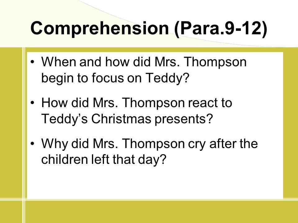 Comprehension (Para.9-12)