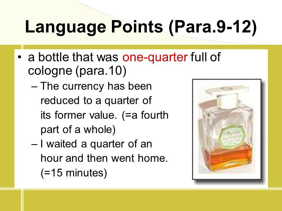 Language Points (Para.9-12)