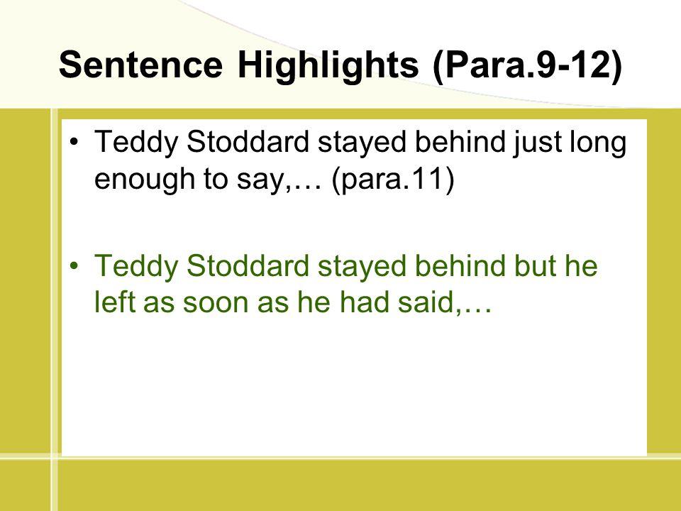 Sentence Highlights (Para.9-12)