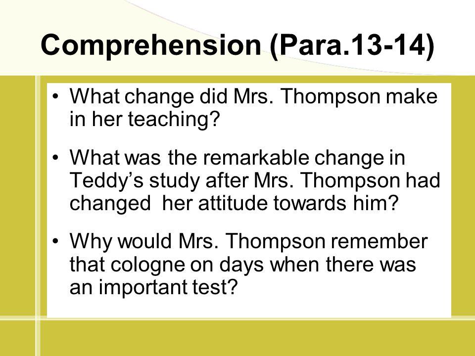 Comprehension (Para.13-14)