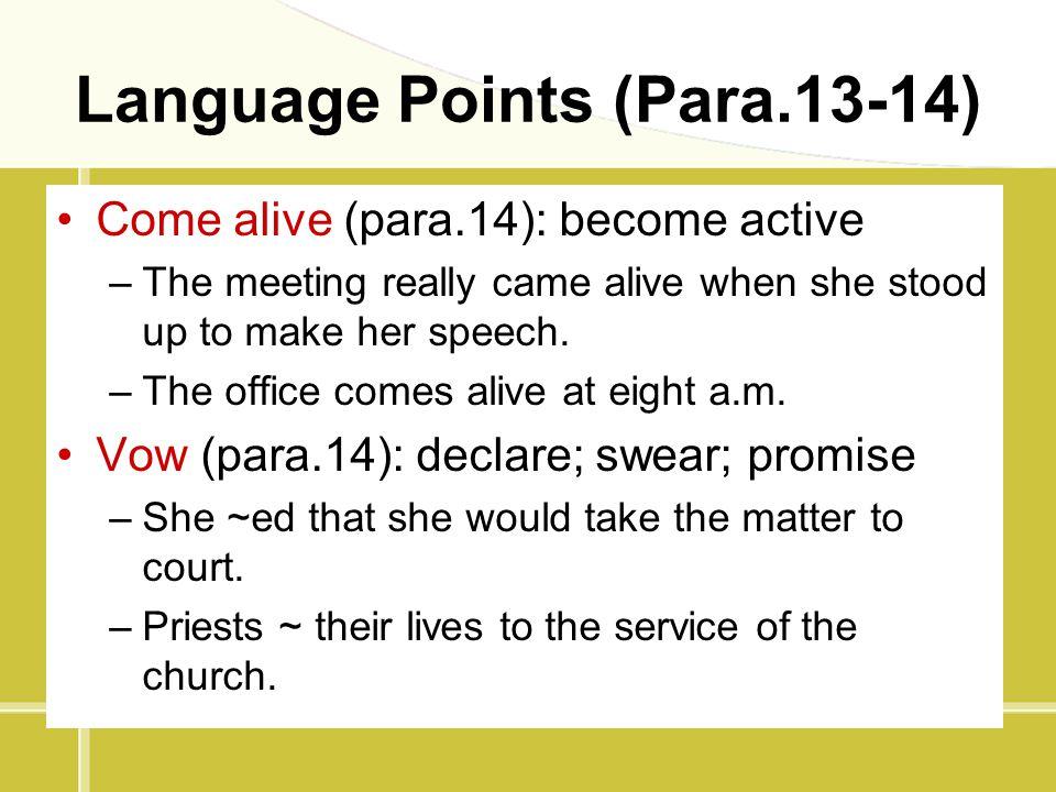 Language Points (Para.13-14)