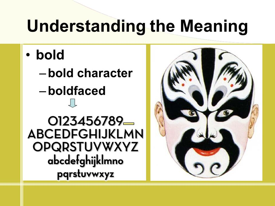 Understanding the Meaning