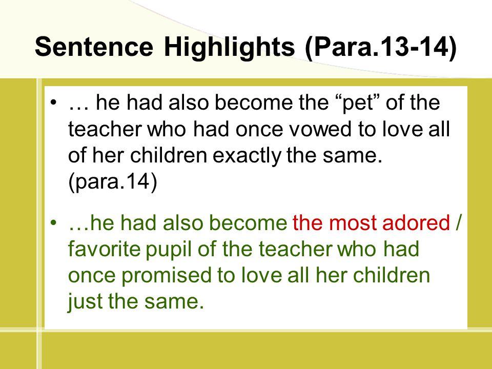Sentence Highlights (Para.13-14)