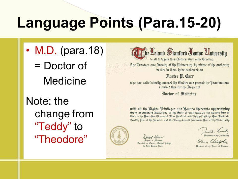 Language Points (Para.15-20)