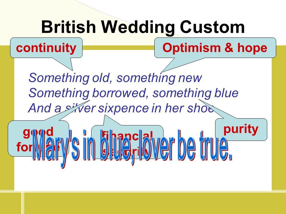 British Wedding Custom