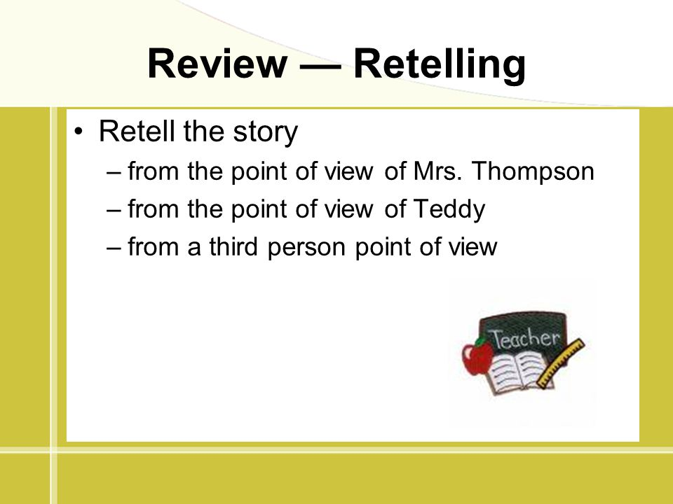 Review — Retelling Retell the story