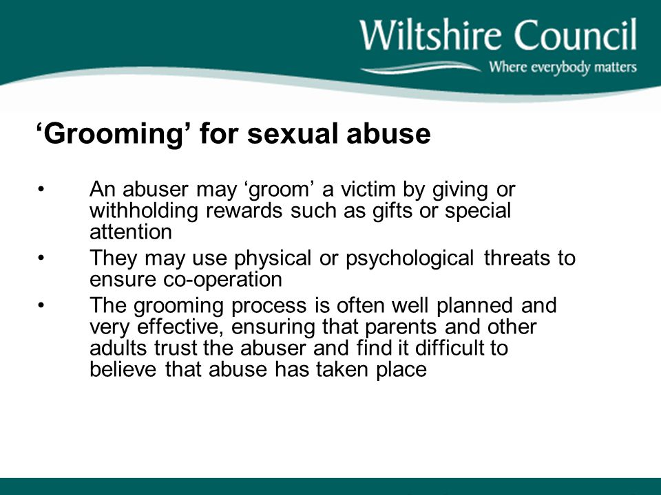 'Grooming' for sexual abuse