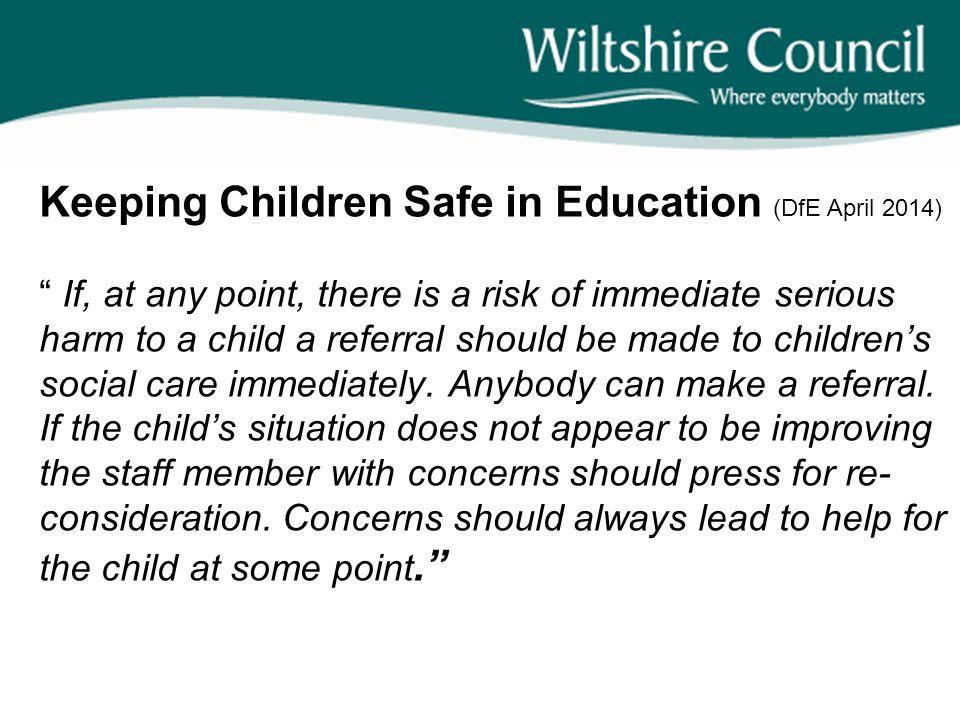Keeping Children Safe in Education (DfE April 2014)