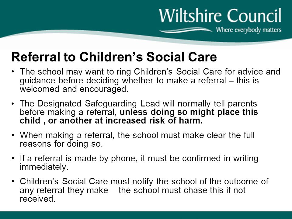 Referral to Children's Social Care