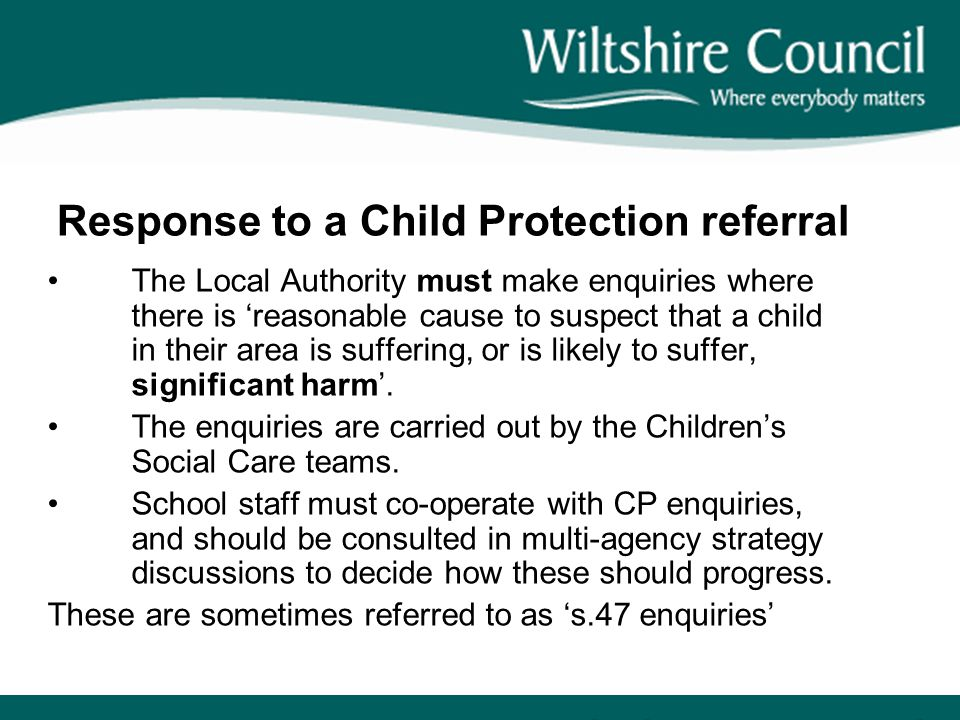 Response to a Child Protection referral