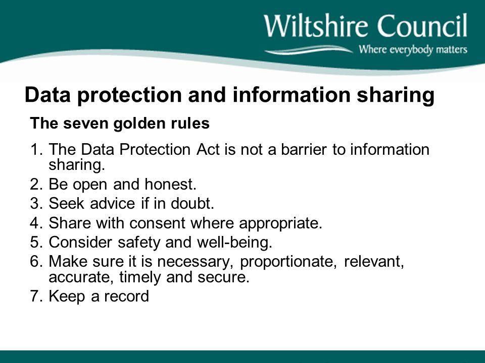 Data protection and information sharing