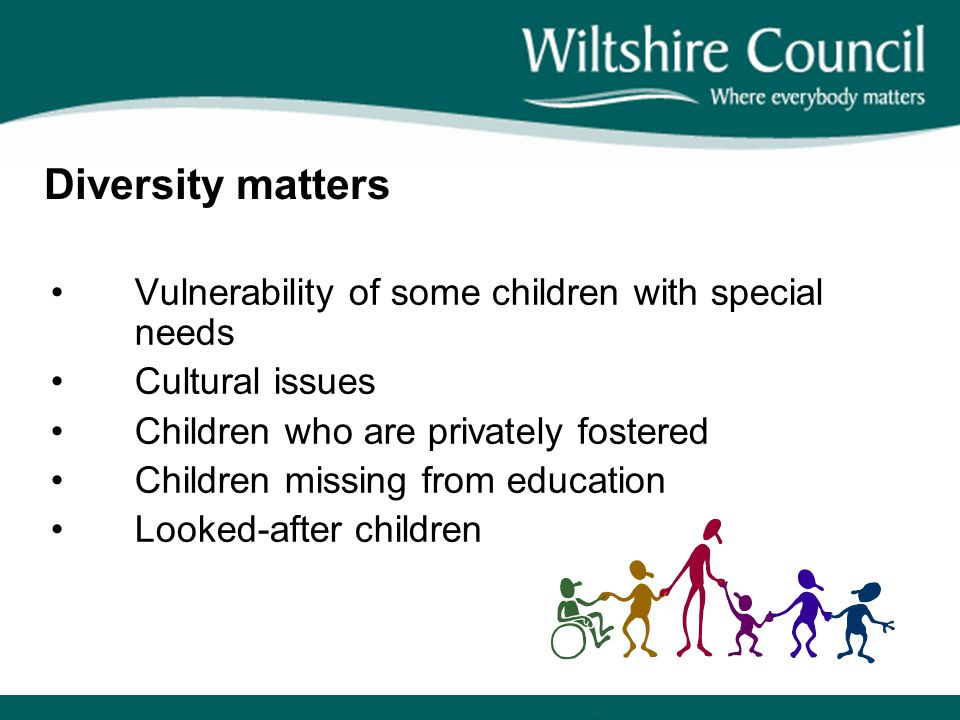 Diversity matters Vulnerability of some children with special needs