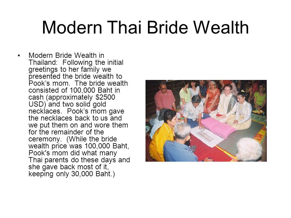 Modern Thai Bride Wealth
