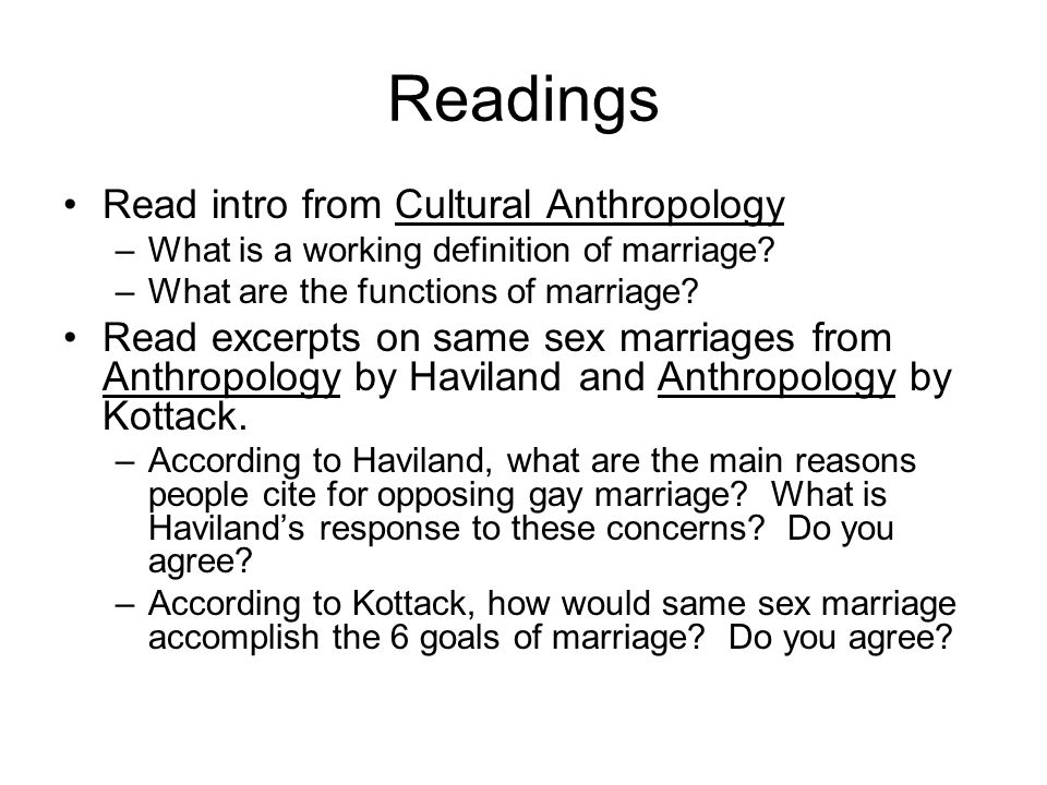 Readings Read intro from Cultural Anthropology