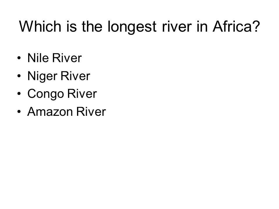 Which is the longest river in Africa