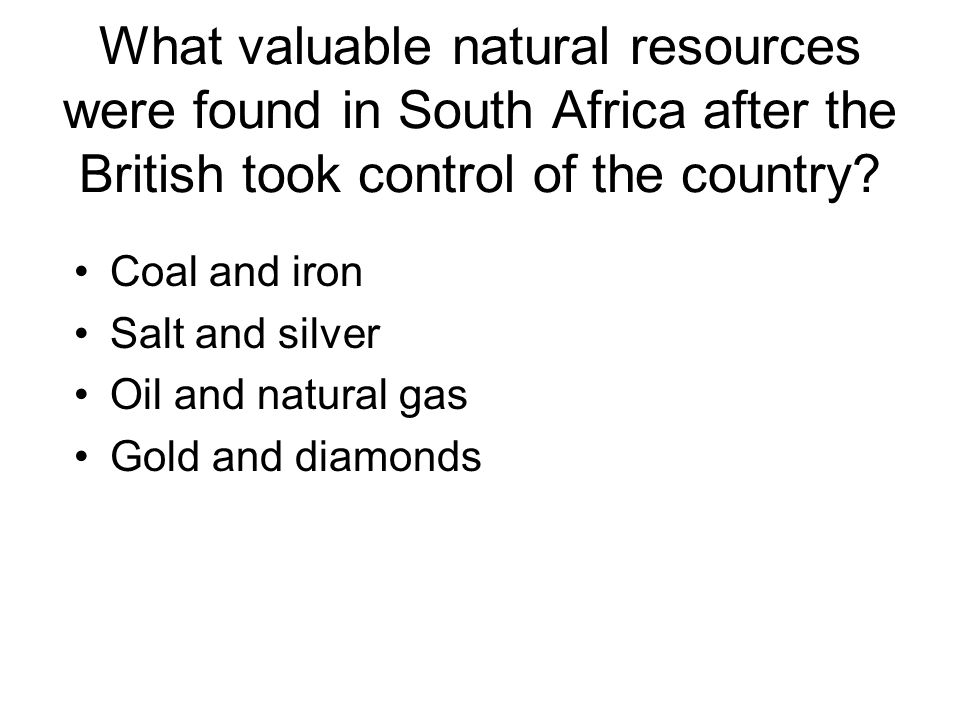 What valuable natural resources were found in South Africa after the British took control of the country