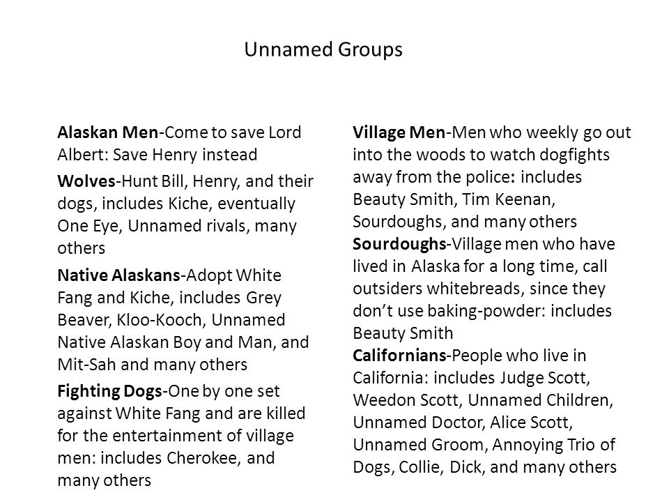 Unnamed Groups