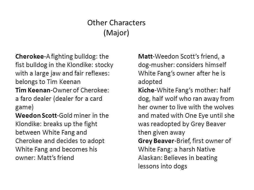 Other Characters (Major)