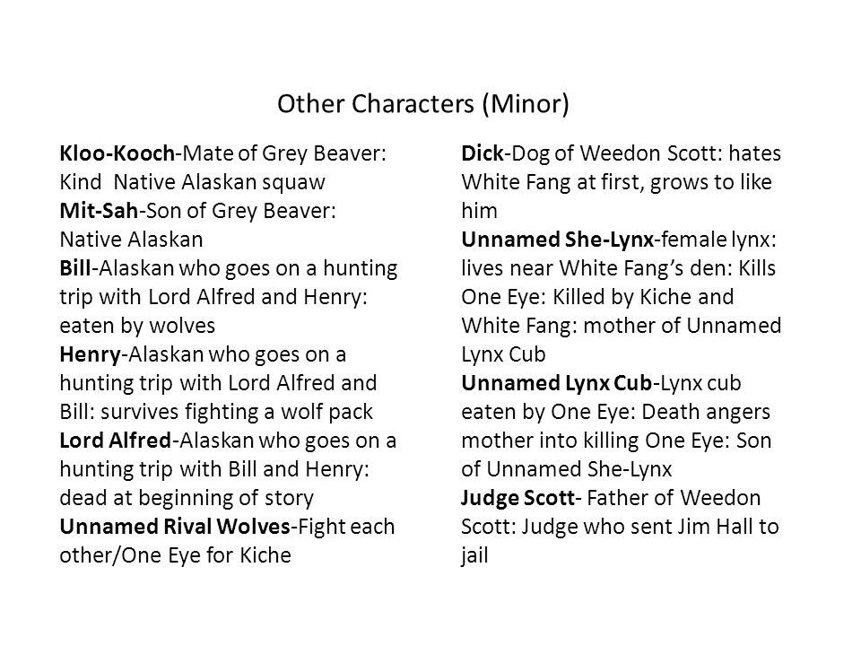 Other Characters (Minor)