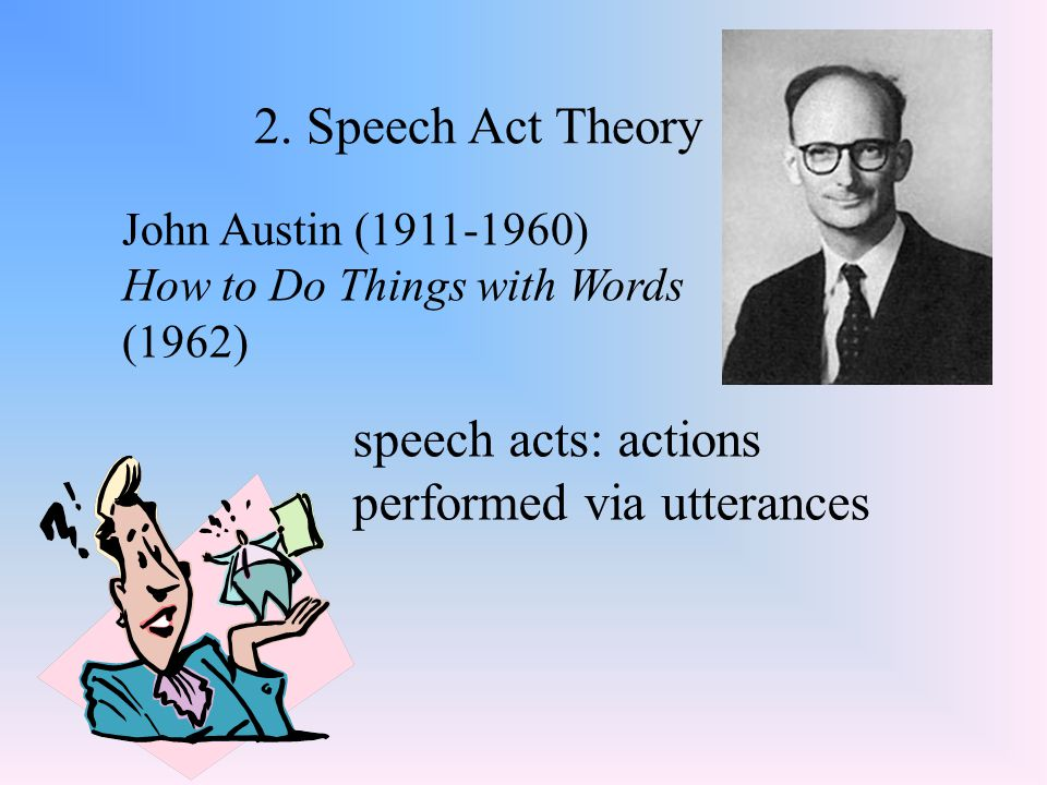 speech acts: actions performed via utterances