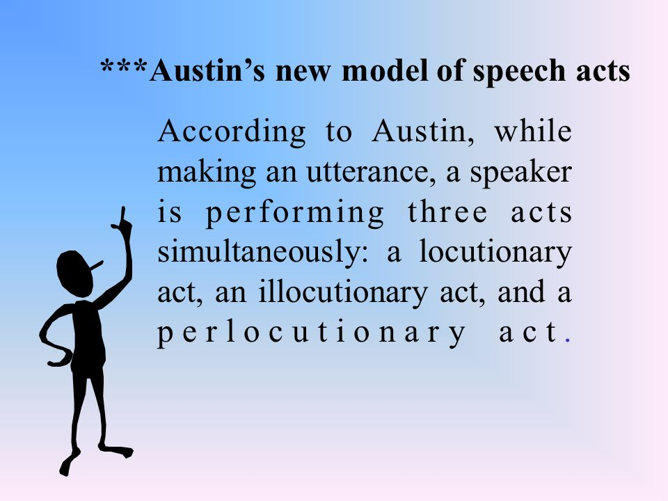 ***Austin's new model of speech acts